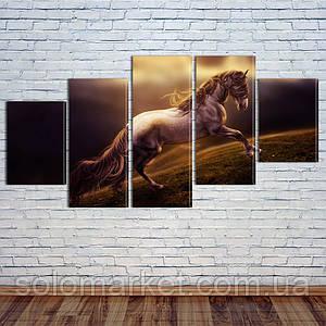 """Модульная картина """"Свободная лошадь"""""""
