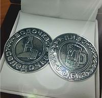 """Сувенир """"Монета для принятия решения"""" серебро 925 пробы"""