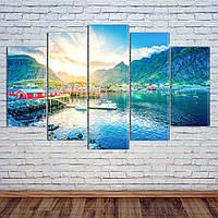 """Модульная картина """"Горы, Норвегия"""", фото 1"""