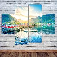 """Модульна картина """"Гори, Норвегія"""", фото 1"""