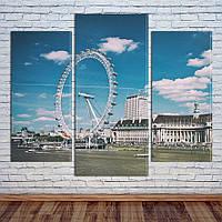 """Модульная картина """"Лондонский глаз"""", фото 1"""