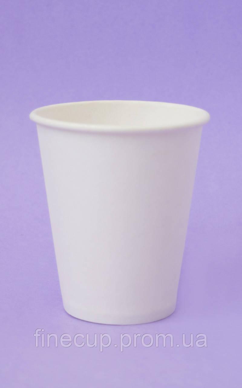 Паперові стаканчики білі/бумажные стаканы белые 175 мл