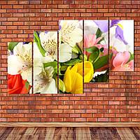 """Модульная картина """"Букет цветов"""", фото 1"""