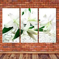 """Модульная картина """"Белые лилии"""", фото 1"""