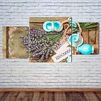 """Модульная картина """"Цветы лаванды"""", фото 1"""