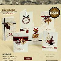 Большой набор скрапбукинга для изготовления новогодних открыток