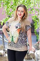Туника леопард и бабочка