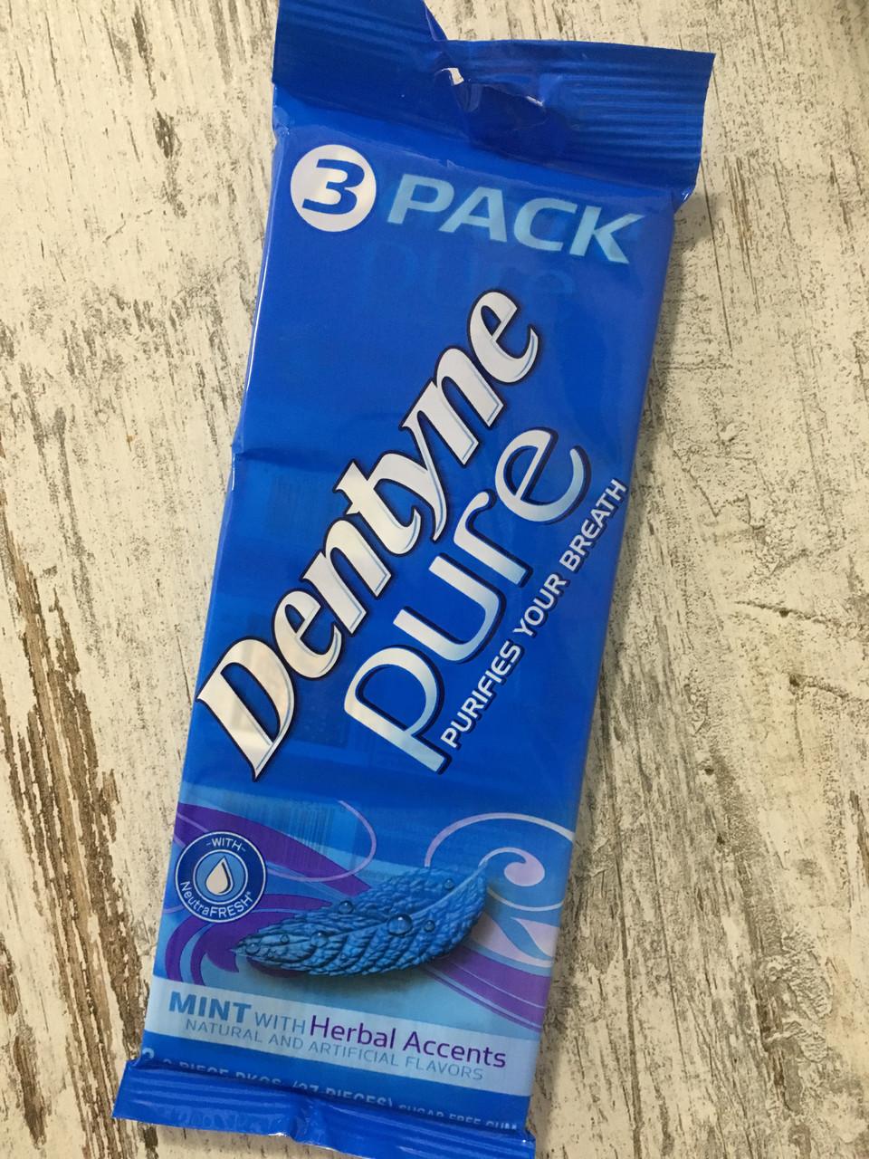 Жевательная резинка Dentyne Pure Мята с травами, 3шт набор