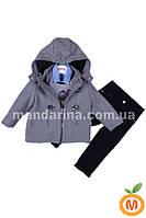 Костюм для мальчика 4 в 1: пальто, реглан, рубашка и джинсы