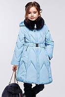 Стильное теплое зимнее пальто на девочку.