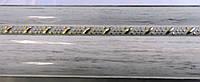 Карниз алюминиевый с молдингом широкий 3,0 м, белое золото