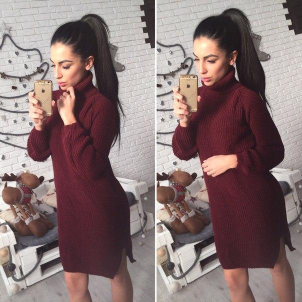 a4f636324cb Купить Тёплое вязаное платье с высокой горловиной 4103212 недорого в ...