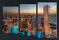 """Модульная картина """"Дубаи"""", фото 1"""