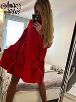 Свободное платье трапеция с бантами  5403221