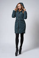 Стильная женская демисезонная куртка темно-зеленого цвета  БЕСПЛАТНАЯ ДОСТАВКА!!!