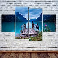 "Модульная картина ""Горное Озеро"", фото 1"