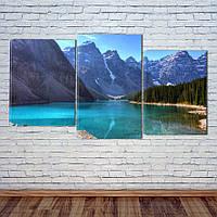 "Модульная картина ""Синее горное озеро"", фото 1"