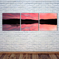 "Модульная картина ""Розовый закат"", фото 1"