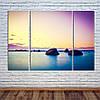 """Модульна картина """"Схід сонця над Океаном"""""""