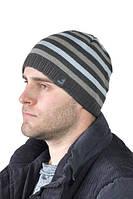 Зимняя мужская шапка СФ полоска