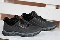Мужские кожаные ботинки Columbia 12211 черные