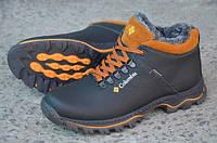 Мужские кожаные ботинки Columbia 12212 черные