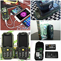 Телефон Противоударный Внедорожник Land Rover S16 2 SIM Батарея 10000 мАН заряжает другие устройства