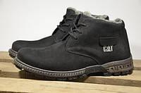 Мужские кожаные ботинки Caterpillar 12217 черные