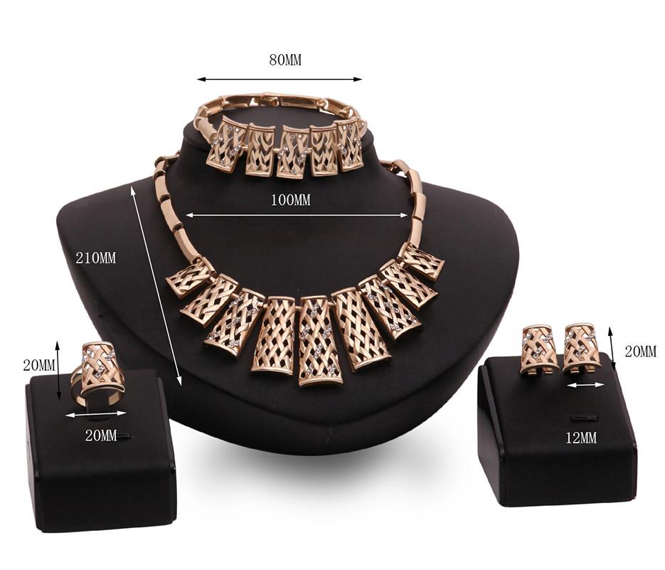 Набор бижутерии: колье, серьги, кольцо, браслет