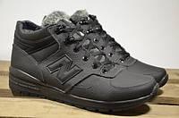 Мужские кожаные ботинки New balance 12221 черные
