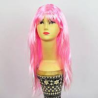Парик длинный прямой светло-розовый 260917-101
