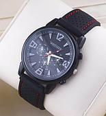 Мужские часы с силиконовым браслетом черные
