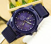 Мужские часы с текстильным ремешком синие