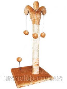Когтеточка Арлекин СИЗАЛЬ 37х37 см, столб h67 см