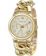 Кварцевые наручные часы Michael Kors с браслетом цепочкой (реплика)