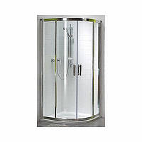 Душевая кабина Kolo GEO 6 полукруглая 80*80 см , (1/2 и 2/2) двери раздвижные, стекло PRISMATIC