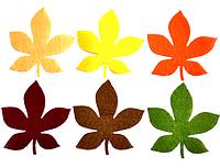 """Фетровый декор """"Листья каштана"""", 8 см. 6 шт/уп, микс"""