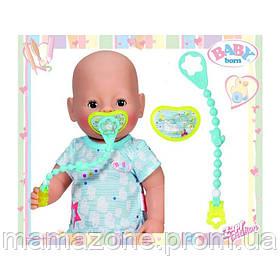 Соска для куклы Baby Born Zapf Creation 822050N голубая