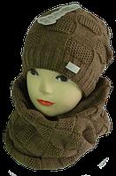 Шапка и шарф зимний м 7083, разные цвета