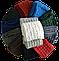 Шарф хомут вязаный женский м 7084, разные цвета, фото 2