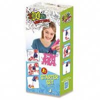 Набор для детского творчества с 3D-маркером - АЛФАВИТ (3D-маркер, шаблон) от IDO3D - под заказ