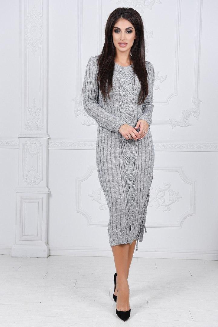 e5cb2a470be Вязаное платье ку411 -