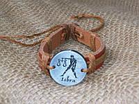 Кожаный браслет знак зодиака