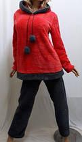 Пижама женская теплая махровая для дома и сна с длинными брюками, размер от 42 до 52, Харьков, фото 3
