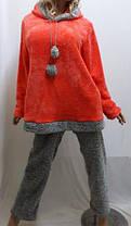 Пижама женская теплая махровая для дома и сна с длинными брюками, размер от 42 до 52, Харьков, фото 2
