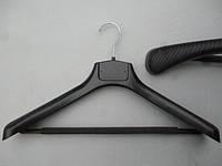 Плечики вешалки пластмассовые СП-42/55П с поролоновой перекладиной черные, 42 см