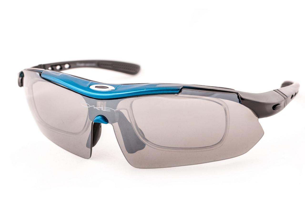 Велоочки Oakley Syper Sport 0089 Blue