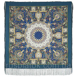 Дикий мёд 1712-12, павлопосадский платок шерстяной (двуниточная шерсть) с шелковой бахромой