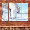 """Модульна картина """"Білий кінь"""""""