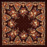 Літні сутінки 1219-17, павлопосадский вовняну хустку з вовняної бахромою, фото 2